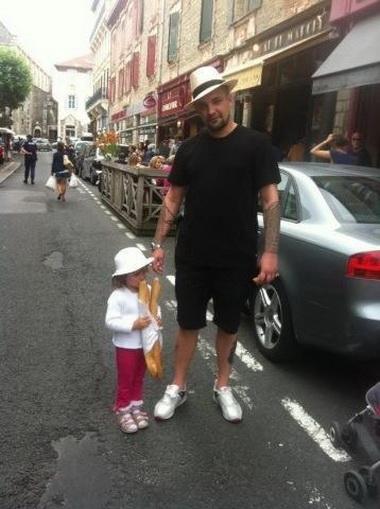 Баста с дочкой